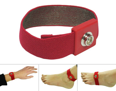 Replacement grounding band (red, 10mm stud)