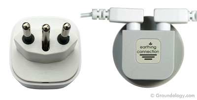 Earth connection plug (Italy, Brazil)